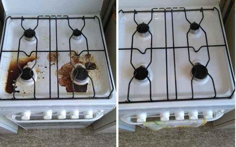 пример работ чистка плиты
